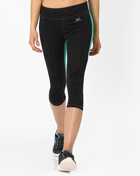 Cropped Workout Leggings By PrettySecrets ( Black )