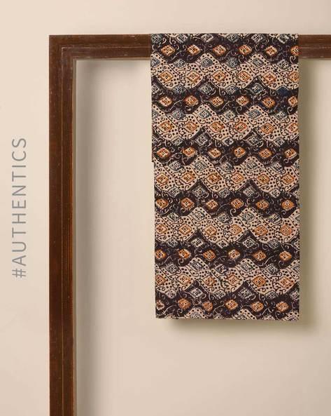 Kalamkari Handblock Print Cotton Blouse Fabric By Indie Picks ( Multi )