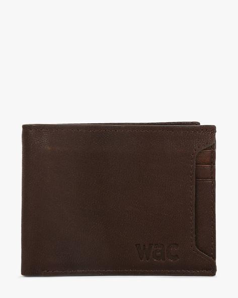 Leather Bi-Fold Wallet By WRANGLER ( Darkbrown )