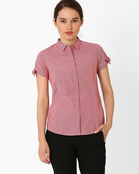 Checked Shirt By Annabelle By Pantaloons ( Red )