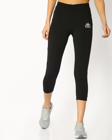 Capris With Elasticated Waist By KAPPA ( Black )