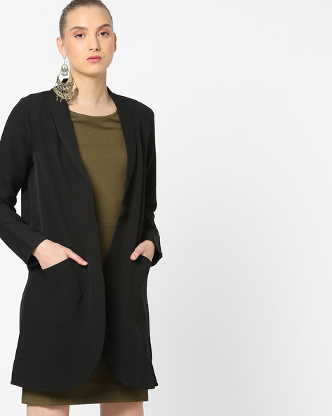 Open-Front Blazer With Insert Pockets By Vero Moda ( Black )