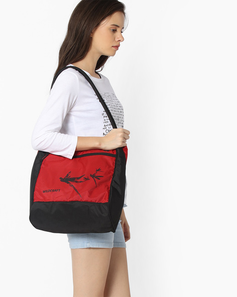 Printed Hobo Bag By Wildcraft ( Red )