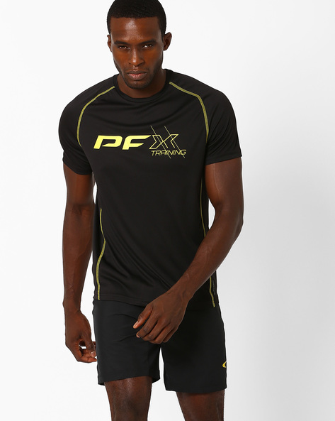 Training T-shirt With Quick Dry By PERFORMAX ( Black )