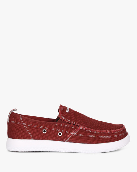 Canvas Slip-Ons Shoes By SPARX ( Cherry )