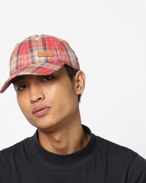 Checked Baseball Cap With Signature Branding By WRANGLER ( Beige )