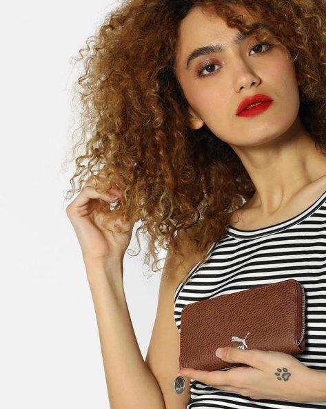 Textured Zip-Around Wallet By Puma ( Brown )