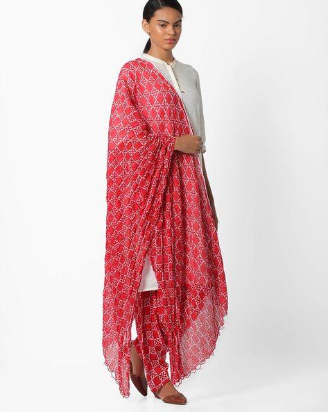 Floral Print Patiala Pants By Stylenmart ( Multi )