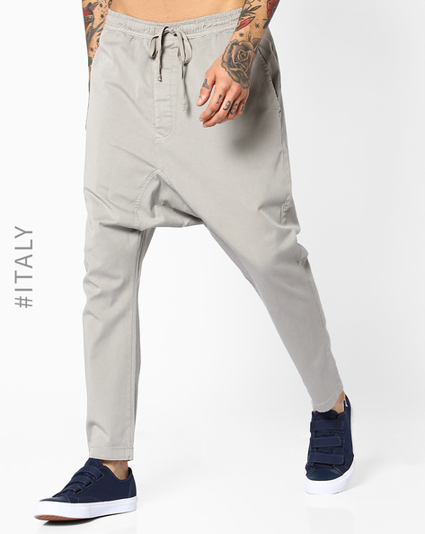 Drop-Crotch Pants With Drawstring Waist By ALCOTT ( Sand )