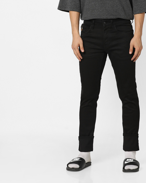 Brandon Slim Fit Jeans By US POLO ( Black )