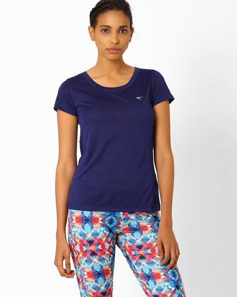 QuickDry T-shirt With Shifted Seams By PERFORMAX ( Navy )