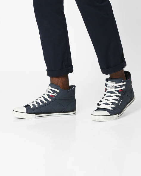Mid-Top Casual Shoes By British Knights ( Navy ) - 460142247005
