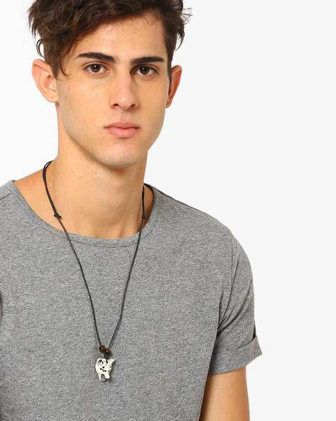 Lone Wolf Of The Dar Necklace By ALPHA MAN ( Multicolor )