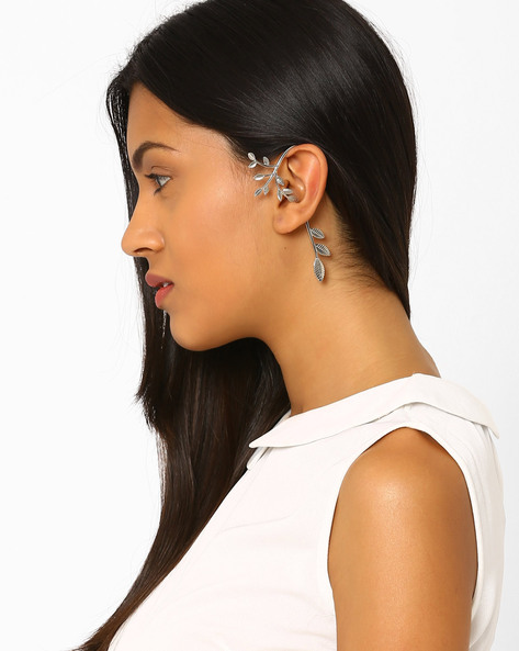 Leaf-Shaped Ear Cuff By AJIO ( Silver )