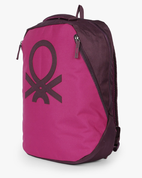 Laptop Backpack With Adjustable Straps By UNITED COLORS OF BENETTON ( Pink )