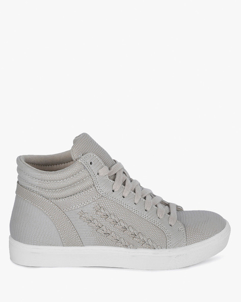 Fletched High-Top Sneakers By BRASH ( Taupe )