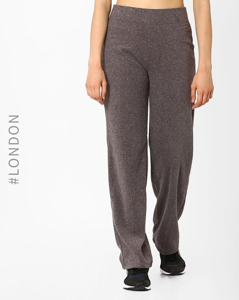 Cotton Track Pants With Elasticated Waist By Marks & Spencer ( Grey )