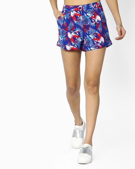 Tropical Print Shorts With Insert Pockets By AJIO ( Navyblue )