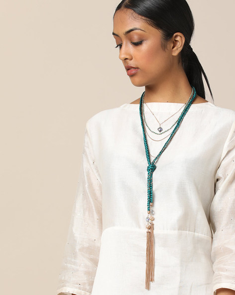 Multi-Layered Beaded Necklace By Project Eve ( Multi )