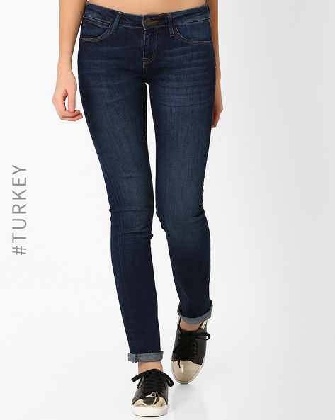 Slim Fit Lightly Washed Jeans By Cross Jeans ( Darkblue )