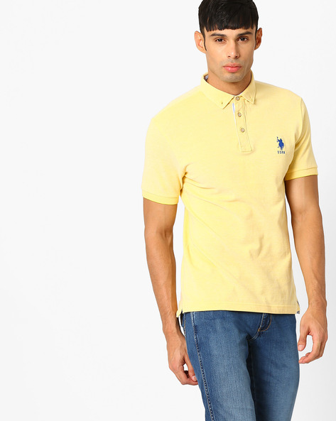Polo T-shirt With Embroidered Branding By US POLO ( Assorted )