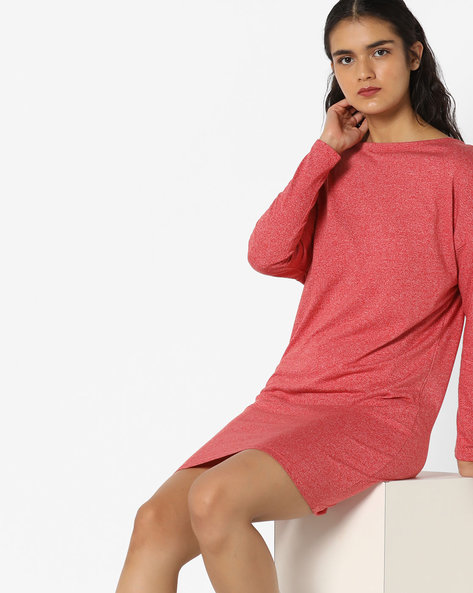 Long Top With Tie-Up By AJIO ( Coral )