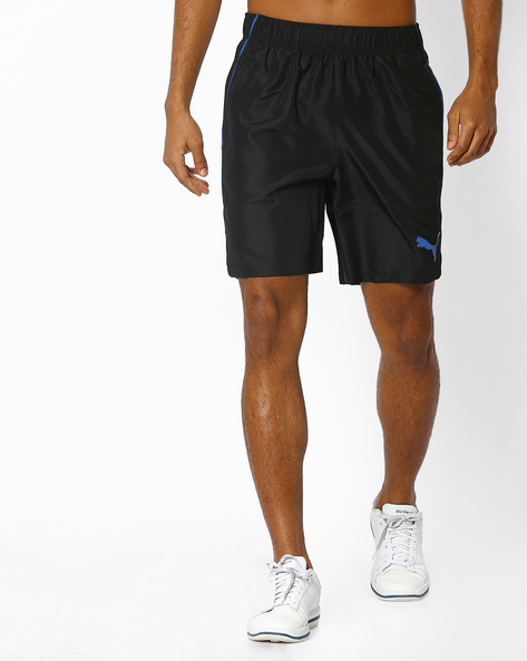 Woven Shorts With Elasticated Waist By Puma ( Black )