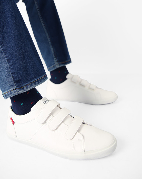 Casual Shoes With Velcro Closures By LEVIS ( White )