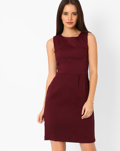 Jacquard Panelled Tailored Dress By TAANZ WOMENS ( Assorted )