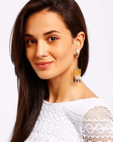 Gold-Plated Drop Earrings By Ssoul ( Yellow ) - 460008516002