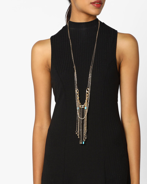 Body Chain Necklace By Baublebeads ( Gold )