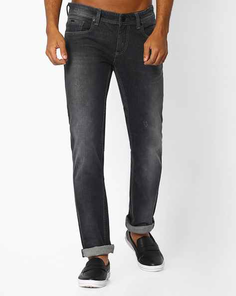 Skinny Torque Stretch Jeans By BASICS ( Darkgrey )