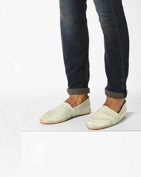 Canvas Espadrille Slip-On Shoes By ESCARO ( White )