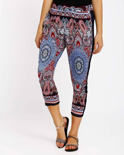 Printed Capris By Oxolloxo ( Blue )