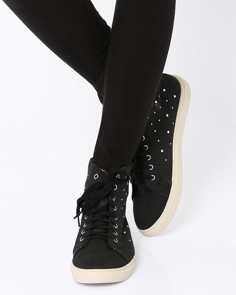 Jayleen Flatform Sneakers By Carlton London ( Black )