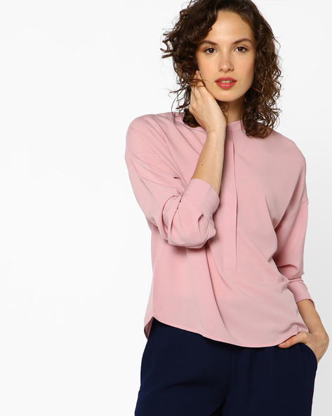 Open-Back Top With Tie-Up By AJIO ( Pink )