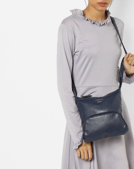 Luba Panelled Sling Bag By Lavie ( Navy )
