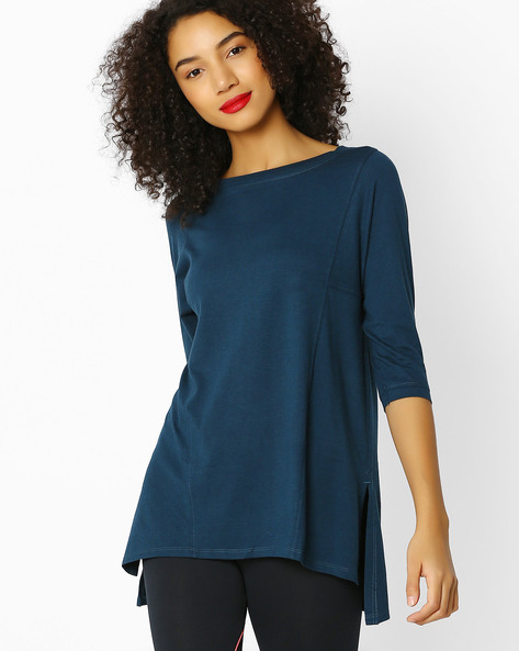 PROY WOMEN TOPS, TEAL, S By Proyog ( Teal )