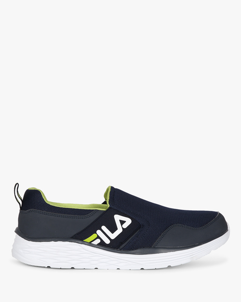 Low-Top Slip-Ons With Pull-Tab By FILA ( Blue )