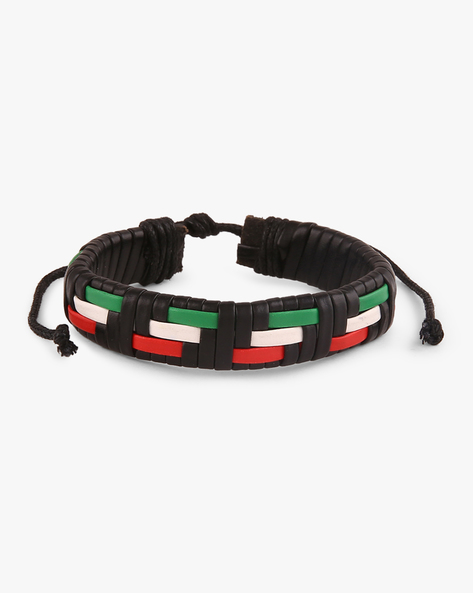 Faux-Leather Braided Bracelet By ALPHA MAN ( Multicolor )