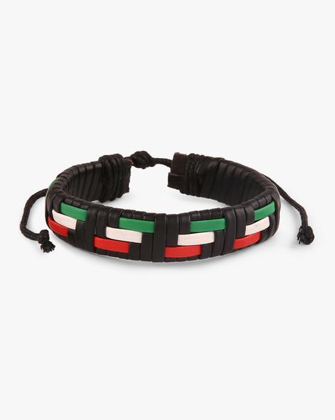 Faux-Leather Braided Bracelet By ALPHA MAN ( Multicolor )