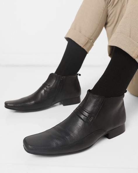 Panelled Boots With Zip Closure By Lee Cooper ( Black )
