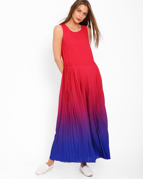 Ombre-Dyed Maxi Dress By AJIO ( Pink )