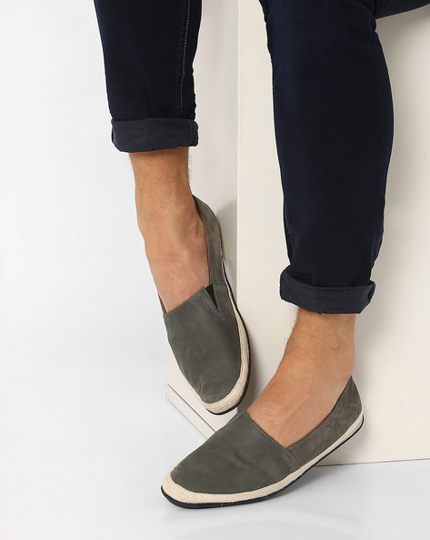 Slip-Ons With Cotton Wrap Sole By AJIO ( Grey )