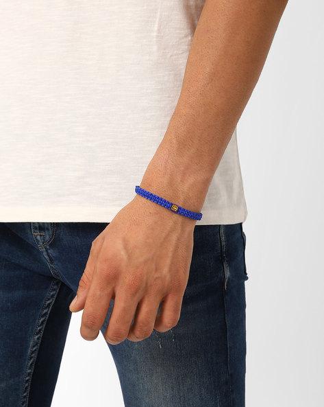 Woven Polyester Bracelet By Alto Vida ( Blue )