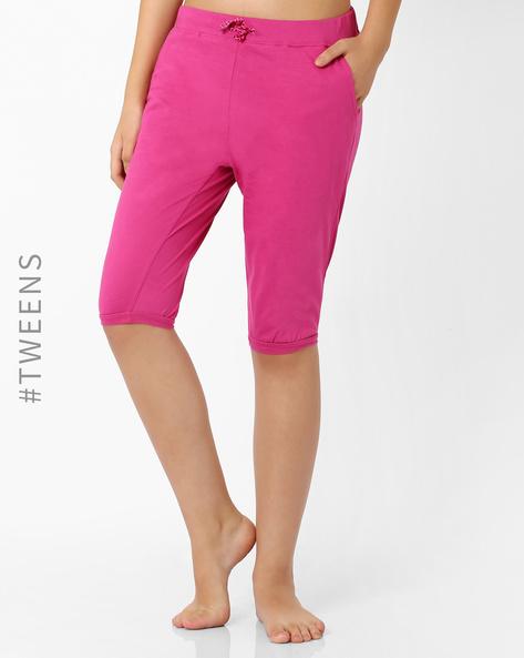 Cotton Lounge Shorts By AJIO Girl ( Pink )