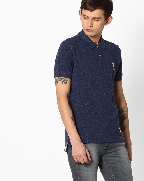 Polo T-shirt With Vented Hems By US POLO ( Assorted )