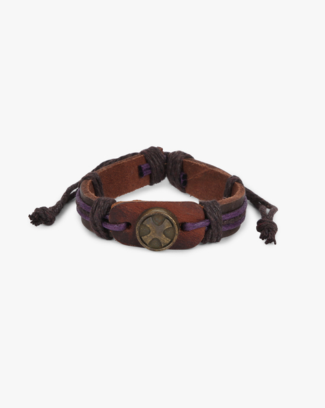 Bracelet With Metal Accent By ALPHA MAN ( Purple )