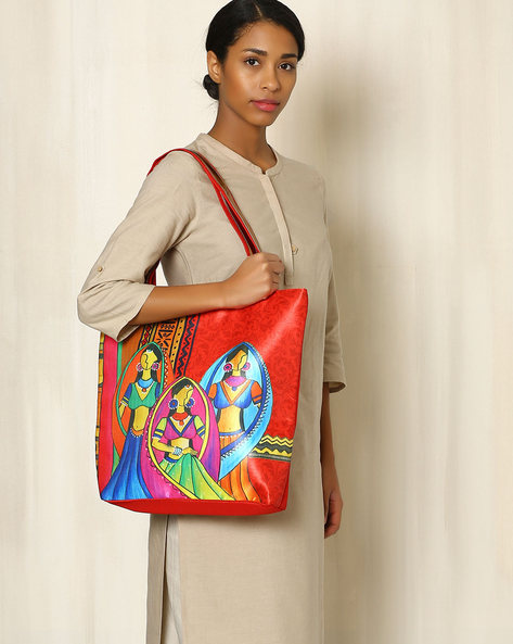 Digital Print Tote Bag By All Things Sundar ( Multi ) - 460040279001