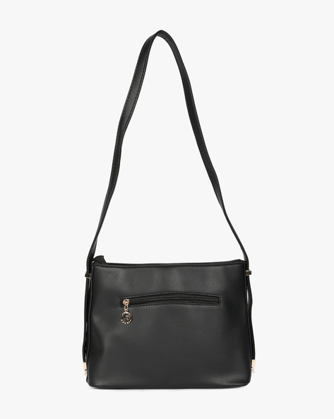 Textured Sling Bag By Lino Perros ( Black )